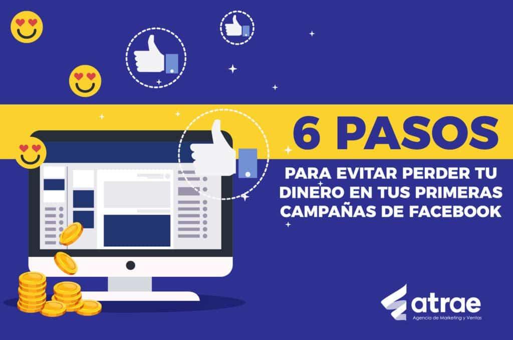6 pasos para evitar perder tu dinero en campañas de Facebook ATRAE Agencia en embudos de conversión Bogotá