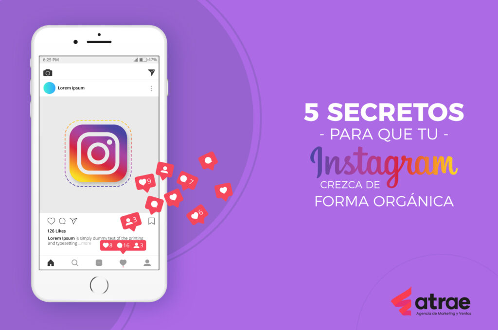 5 secretos para que tu Instagram crezca de forma orgánica ATRAE Agencia especializada en ventas Bogotá