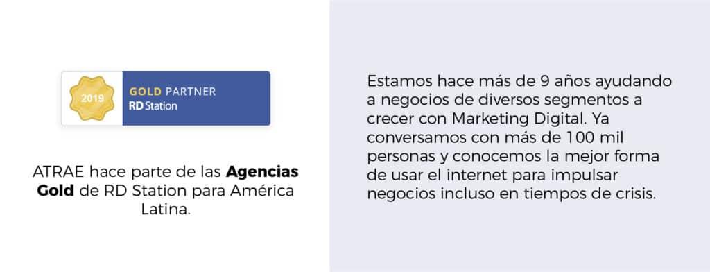 Quienes Somos foto agencia partner gold RD Station ATRAE tus mejores clientes Agencia especializada en ventas Bogotá